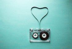 Bande audio tordue sous forme de coeur Photographie stock libre de droits