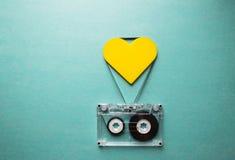 Bande audio tordue sous forme de coeur Photo libre de droits