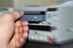 Bande avec l'enregistreur de dv Image libre de droits
