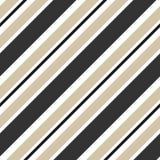 Bande beige ed illustrazione senza cuciture diagonale nera del fondo del modello Fotografia Stock