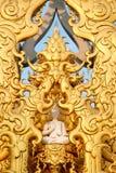 Bande bianche della Tailandia di arte della statua Fotografie Stock Libere da Diritti