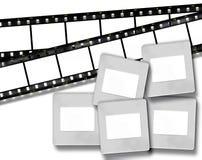 Bande in bianco della pellicola e blocchi per grafici in bianco della foto della trasparenza illustrazione vettoriale