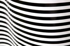 Bande in bianco e nero che curvano 1 Immagini Stock