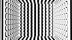 Bande in bianco e nero Il fondo astratto generato da computer, 3D rende illustrazione di stock