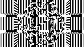 Bande in bianco e nero Il fondo astratto generato da computer, 3D rende royalty illustrazione gratis