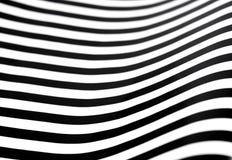 Bande in bianco e nero ondulate Immagini Stock Libere da Diritti