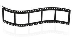 Bande blanc de film Photographie stock