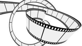 Bande blanc de film de vecteur Photographie stock libre de droits