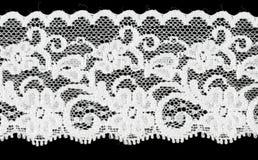 Bande blanche nuptiale de lacet Photographie stock libre de droits