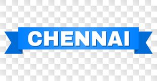 Bande bleue avec la légende de CHENNAI illustration libre de droits