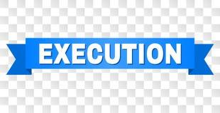 Bande bleue avec le titre d'EXÉCUTION illustration stock