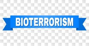 Bande bleue avec le titre de BIO-TERRORISME illustration de vecteur