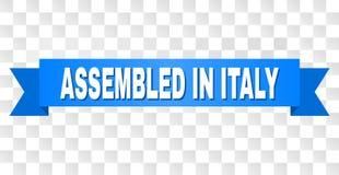 Bande bleue avec RÉUNI au titre de l'ITALIE illustration libre de droits