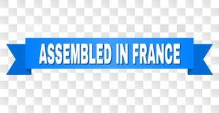 Bande bleue avec RÉUNI DANS la légende de la FRANCE illustration libre de droits