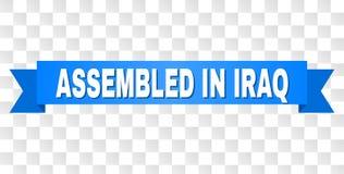 Bande bleue avec RÉUNI DANS la légende de l'IRAK illustration de vecteur