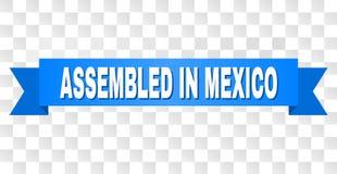 Bande bleue avec RÉUNI EN texte du MEXIQUE illustration libre de droits