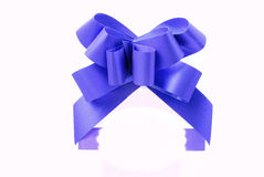 Bande bleue de cadeau Image stock