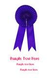 Bande bleue de récompense Photo stock