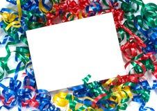 Bande bouclée Notecard Photo stock