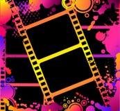 Bande colorée de film blanc Photographie stock libre de droits