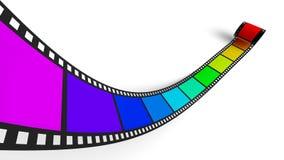 Bande colorée de film négatif Photographie stock libre de droits