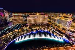 Bande colorée de Las Vegas la nuit image stock