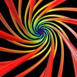 Bande colorate su fondo nero Fotografia Stock