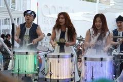Bande coréenne à l'expo 2015 en Milan Italy Photo libre de droits