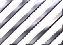 Bande d'argento su priorità bassa bianca illustrazione di stock