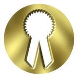 Bande d'or de récompense Images libres de droits
