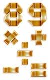 Bande d'or en métal de numéro - 8,9 Photographie stock