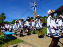 Bande d'enfants, Bastimentos, Panama Photos stock