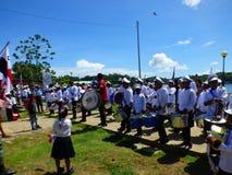 Bande d'enfants, Bastimentos, Panama Images stock