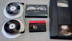 Bande d'enregistrement différente de cassette Images libres de droits