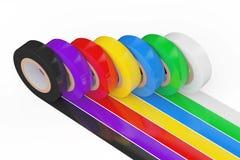 Bande d'isolation adhésive colorée différente rendu 3d Image libre de droits