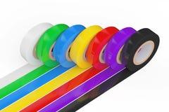 Bande d'isolation adhésive colorée différente rendu 3d Photographie stock libre de droits