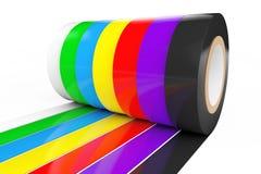 Bande d'isolation adhésive colorée différente rendu 3d Photos libres de droits