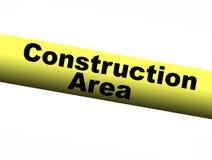 Bande de barrière de jaune de région de construction Photo stock