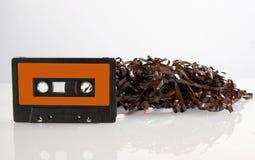 Bande de cassette sonore avec la réflexion. image stock