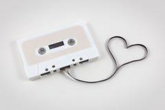 Bande de cassette sonore avec le coeur Images libres de droits