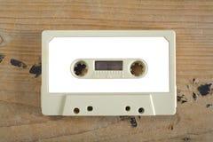 Bande de cassette sonore de cru avec le label vide, l'espace d'exemplaire gratuit images stock