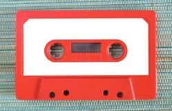 Bande de cassette sonore de cru avec le label vide, l'espace d'exemplaire gratuit image libre de droits