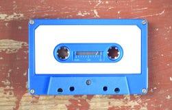 Bande de cassette sonore de cru avec le label vide, l'espace d'exemplaire gratuit images libres de droits