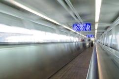 Bande de conveyeur dans l'aéroport de Rome Photo libre de droits