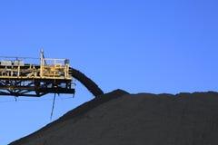 Bande de conveyeur de charbon Images stock