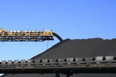 Bande de conveyeur de charbon Photos libres de droits