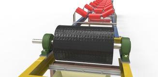 Bande de conveyeur pour le transport des matériaux Images stock