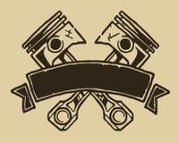 Bande de cru avec des pistons Images libres de droits