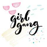 bande de fille Typographie de slogan du féminisme pour l'habillement illustration stock