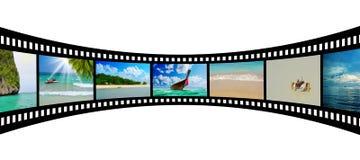 Bande de film avec de belles photos de vacances Photo stock